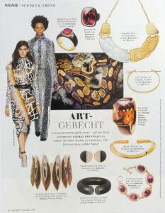 Bernhard Grassl Juwelier München Presse Madame 11/2019 Eisenring mit Rubellith